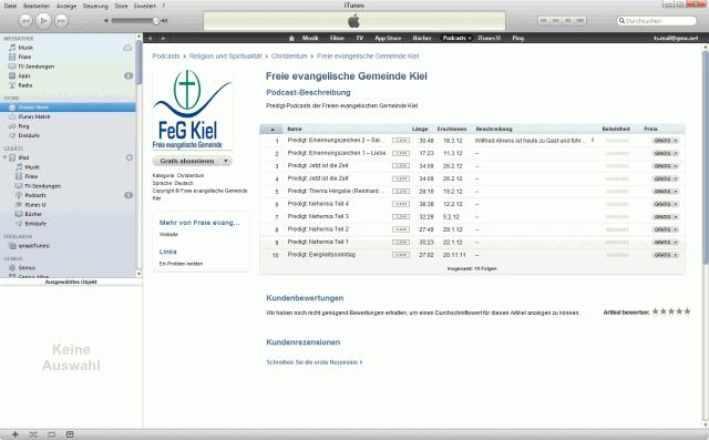 Predigten als Podcast und in iTunes