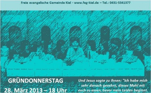 Gründonnerstag 2013