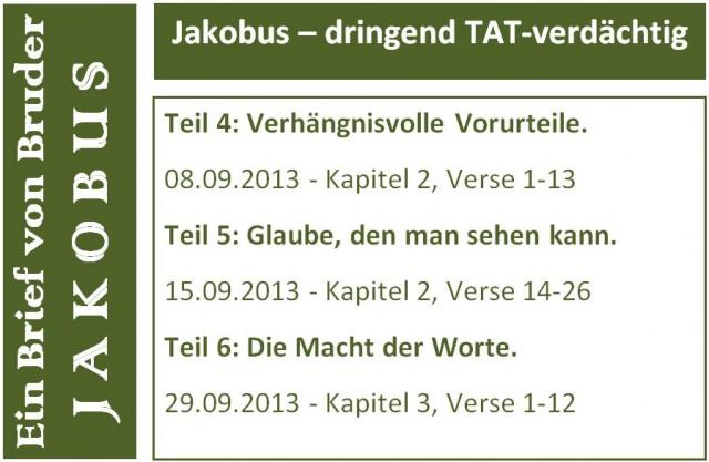 Jakobus Flyer Teil 4-6 short