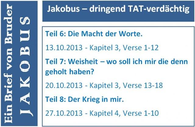 Jakobus Flyer Teil 6-8 short