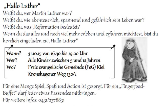 Hallo Luther – Einladung für Kinder