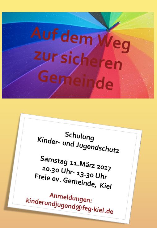 Samstag: Schulung Kinder- und Jugendschutz