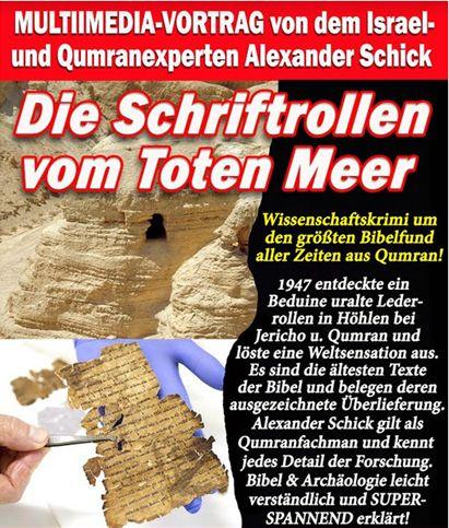 Die Schriftrollen vom Toten Meer. Ein Multimediavortrag am 23.09.18 um 14 Uhr